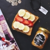 peanut butter banana and strawberry on sliced bread